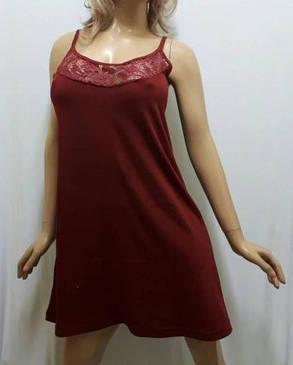 Ночная рубашка, ночнушка, туника из хлопка с кружевом, размеры 42 до 50, Украина, фото 2
