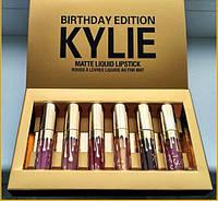 Набор 6шт Матовые Помады Kylie Birthday!