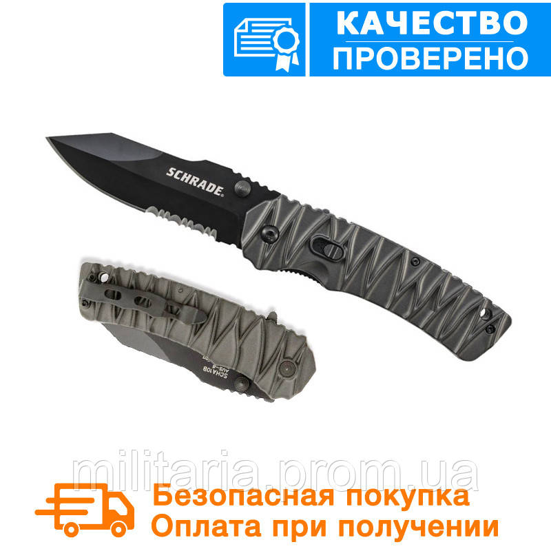 Нож для выживания Schrade - M.A.G.I.C. Dual Action - Serrated Clip Point - SCHA10BS