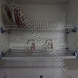 Сушка для посуду з рамкою в секцію 400 мм, нержавіюча сталь, фото 4