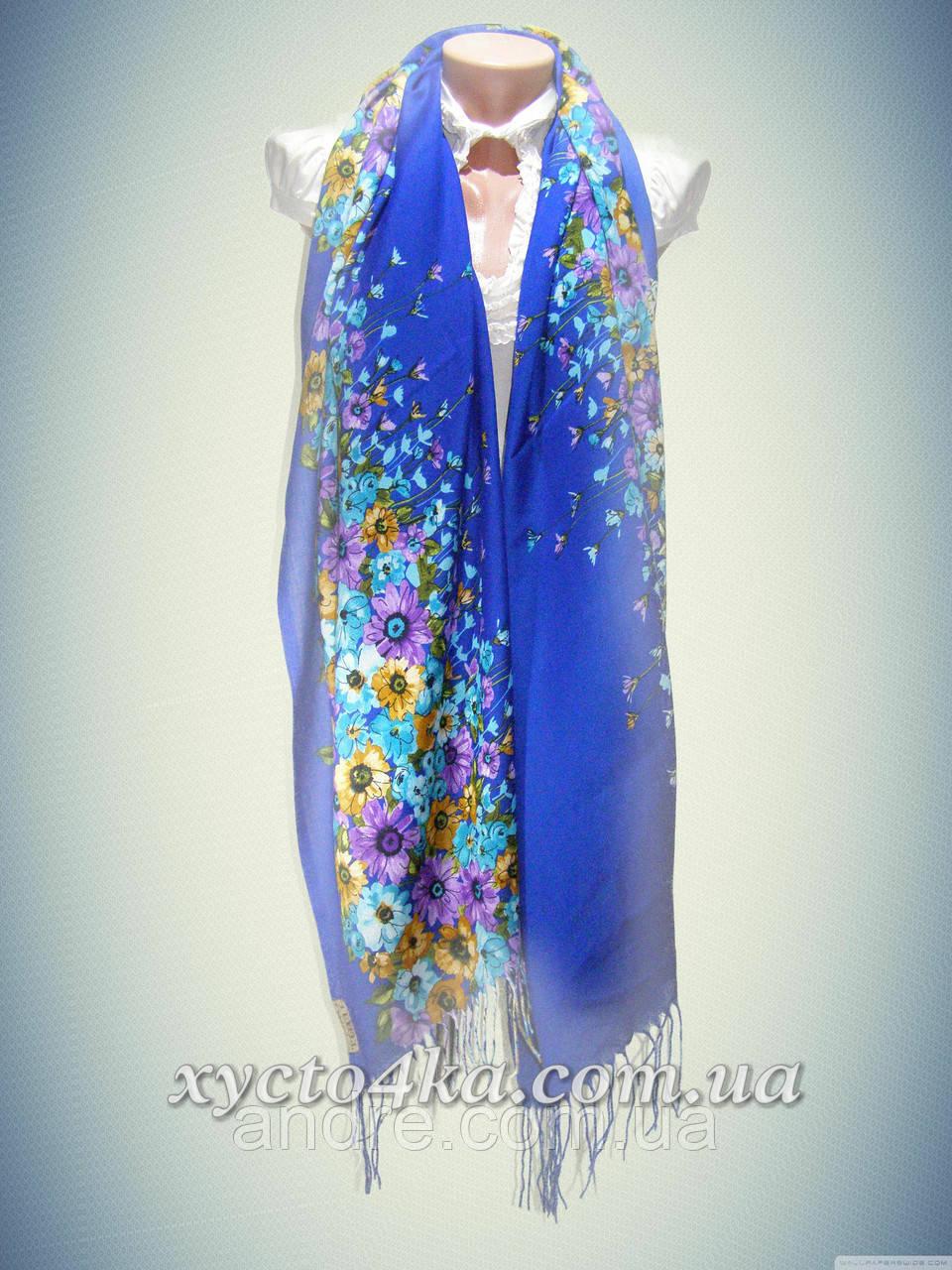 Кашемировые шарфы Пробуждение, синий
