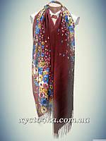 Кашемировые шарфы Пробуждение, бордовый