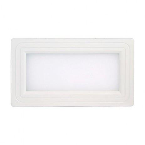 Світлодіодний світильник Horoz (HL690L) 12W 3000K білий прямокутник (стельовий) Код.57137