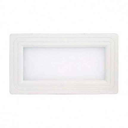 Світлодіодний світильник Horoz (HL690L) 12W 3000K білий прямокутник (стельовий) Код.57137, фото 2