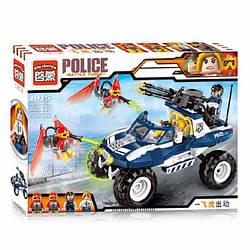 """Конструктор Brick поліція, машина, фігурки 356дет До """"Поліцейський позашляховик"""" від компанії Brick, 356 деталей"""