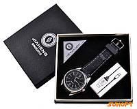 USB зажигалка + часы в подарочной упаковке (Спираль накаливания; кварц) №4829-1