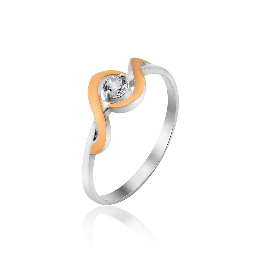 Кольцо серебряное с золотом Юрьев 417к