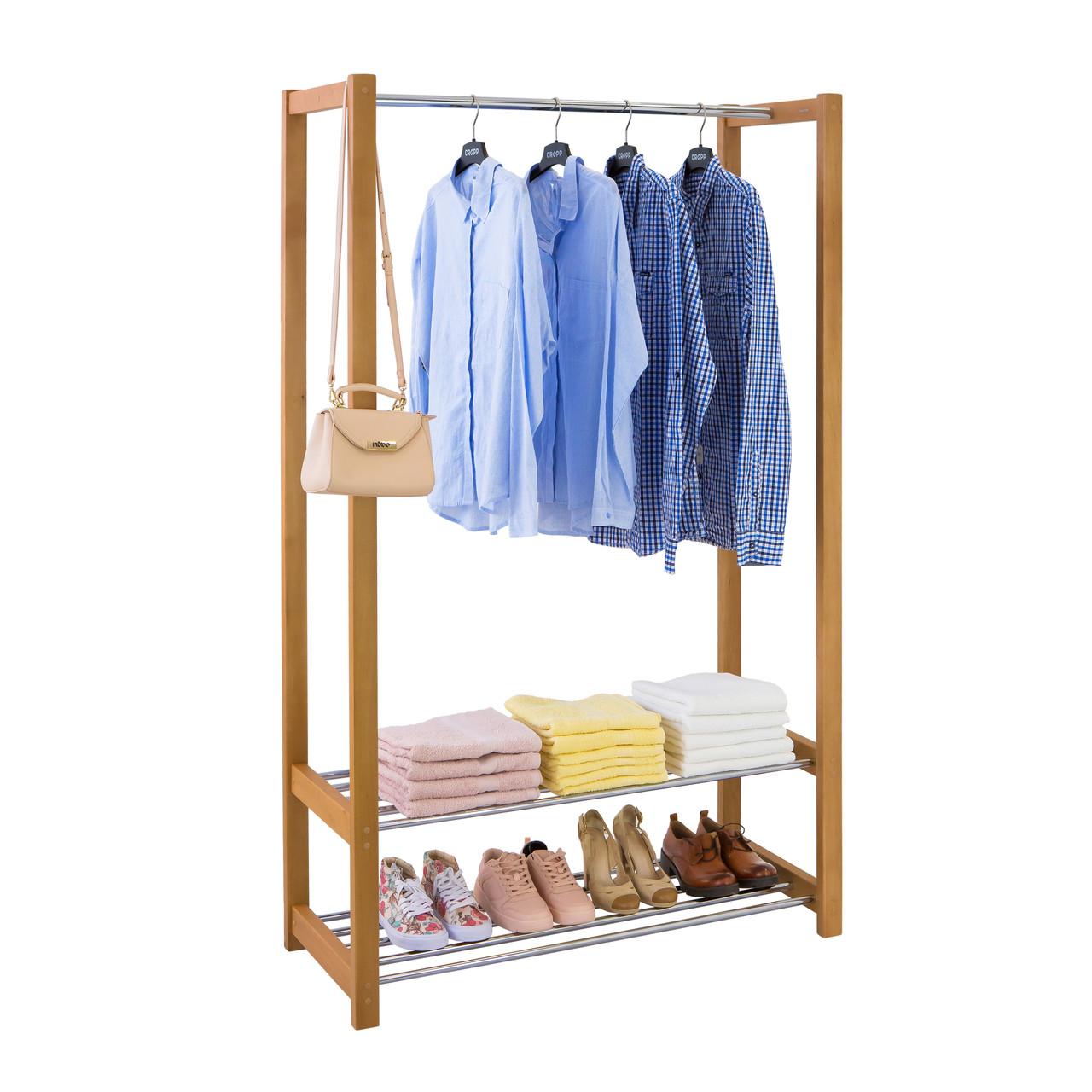 напольная вешалка для одежды люкс деревянная Biglua