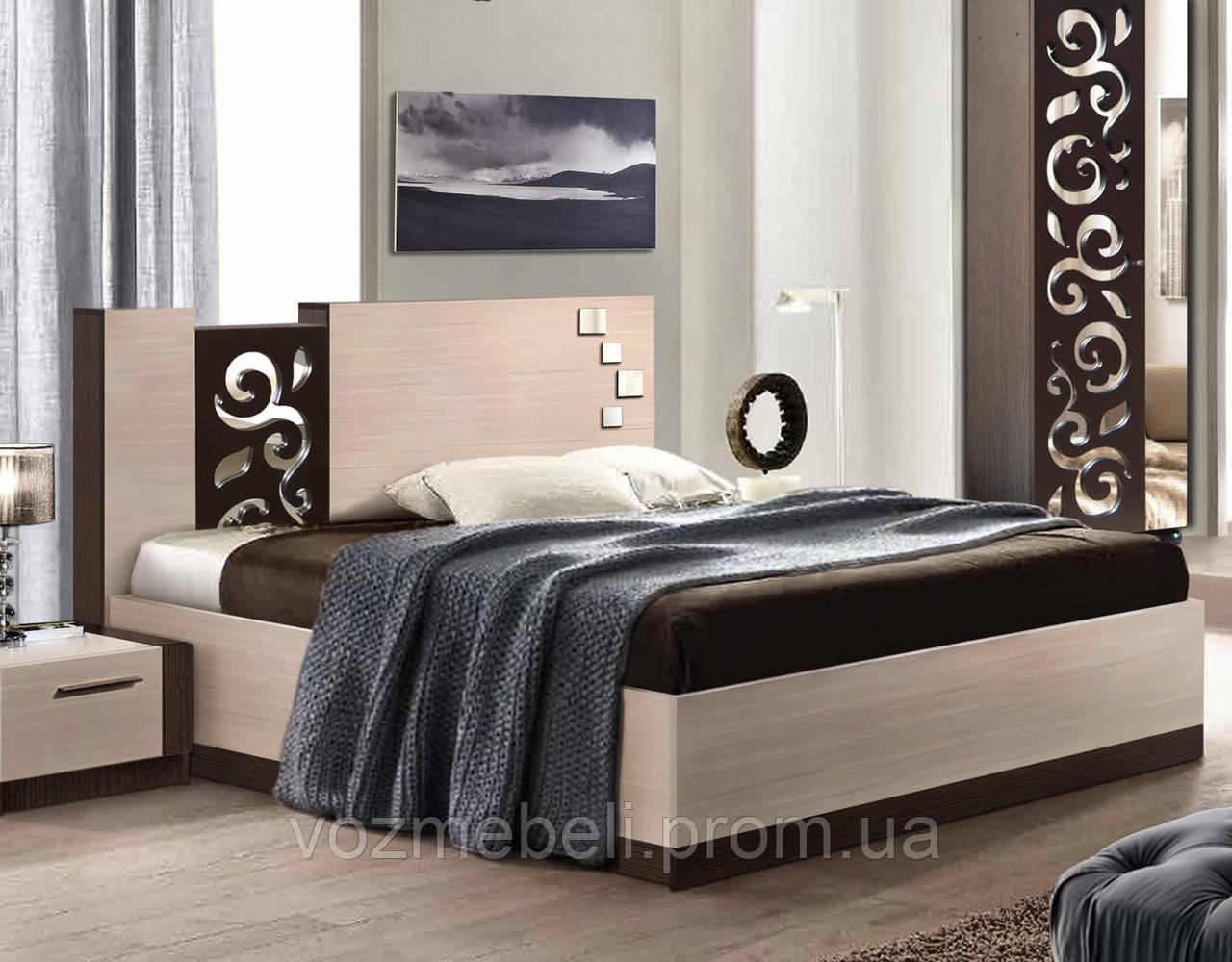 Кровать Сага 160 с каркасом  /МастерФорм/