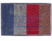 """Ворсовые грязезащитные ковры """"Париж"""" цвет красный 1000х1000мм."""