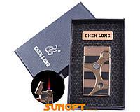 Зажигалка в подарочной упаковке CHEN LONG (Турбо пламя) №XT-4059 Gold