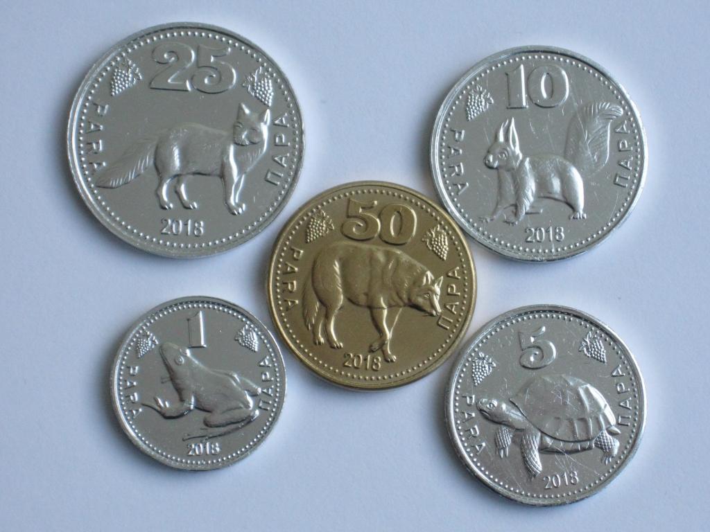 Гагаузия 5 монет 2018 фауна