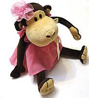 """Мягкая игрушка """"Обезьяна в розовом платье""""  , фото 1"""