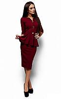 S, M, L / Стильное офисное платье Fiona, марсала