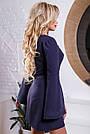 Жіноче коротке плаття синє з вишивкою, фото 5
