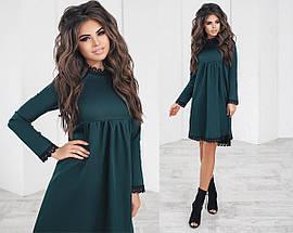 Однотонное платье с кружевом, фото 3