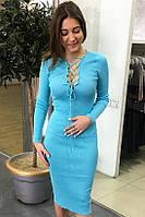 Платье трикотажное длинный рукав глубокое декольте распродажа