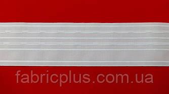 Тесьма  супер широкая  белая (10 см)
