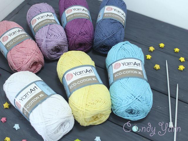 """YarnArt """"Eco Cotton XL / Эко Котон"""", Турция (Хлопок с полиэстером)"""