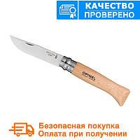 Нож Opinel (опинель) Inox Natural №8 VRI бук блистер (000405), фото 1