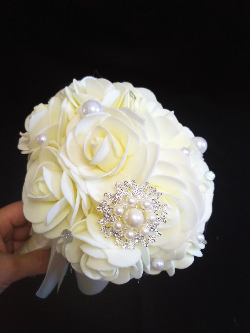 Букет-дублер для невесты Роза гофра