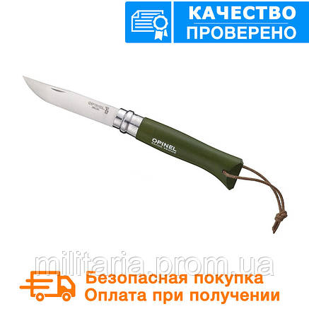Туристический нож Opinel (опинель) Inox №8 VRI бук Origins Khaki (001703), фото 2
