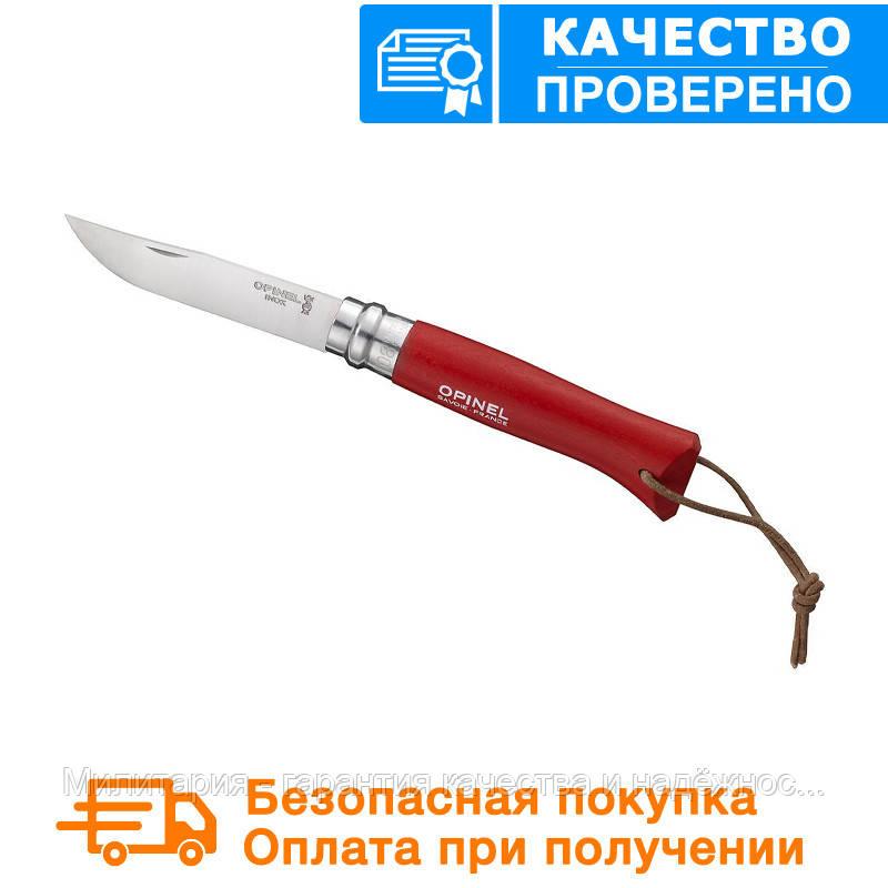 Туристический нож Opinel (опинель) Inox №8 VRI бук Origins Red (001705)