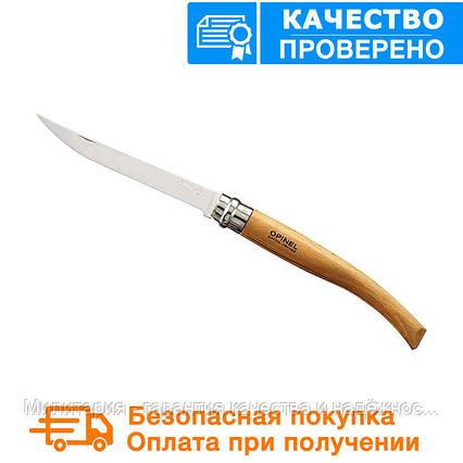 Складной филейный нож с деревянной ручкой Opinel Slim Beechwood No.10 (000517), фото 2