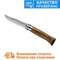 Нож Opinel (опинель) Inox Natural №8 VRI Орех (000648), фото 1