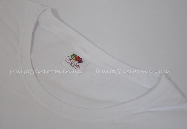 Белая премиум  женская футболка