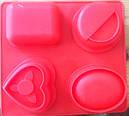 Форма для мыла силиконовая Сердце 2Д, фото 4