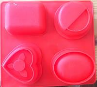 Форма для мыла силиконовая 4 шт планшет
