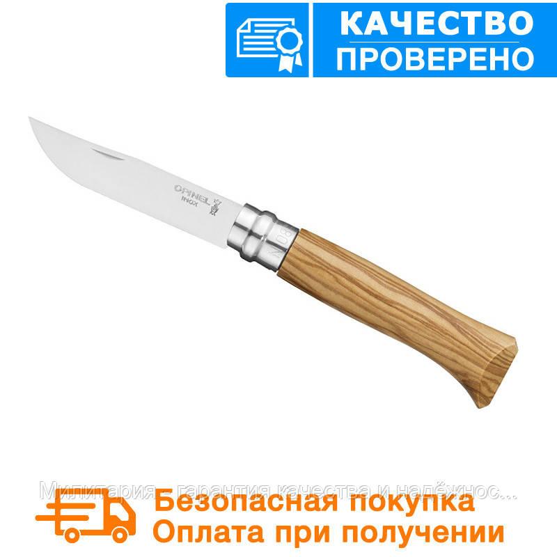 Нож Opinel (опинель) Inox Natural №8 VRI Oliv (000899)