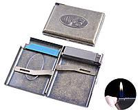 """Портсигар в подарочной упаковке с зажигалкой на 20 сигарет """"Кости"""" №3306-2"""