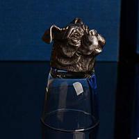 Рюмка подарочная Собака 50 мл коллекционная / подарок охотнику рыбаку