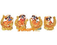 Статуэтка Собака денежная на подкове (Керамика) №17529-1