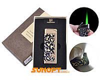Зажигалка в подарочной коробке FANGFANG (Турбо пламя, фонарик) №XT-4030-4