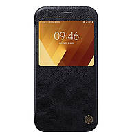 Кожаный чехол-книжка (с окошком) Nillkin Qin Series для Samsung Galaxy A5 (2017) SM-A520 Black