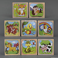"""Пазлы деревянные С 23132 (400) """"Животные"""" 8 видов"""