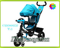 Детский трехколесный велосипед Crosser T-One Air (Лазурные)