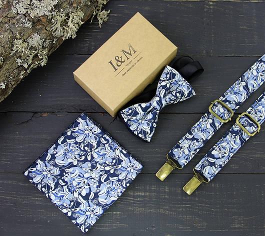 Набор I&M Craft галстук-бабочка, подтяжки для брюк и платок паше (030237), фото 2