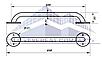 Поручень для инвалидов  прямой, Ø 20мм - 600м, фото 2
