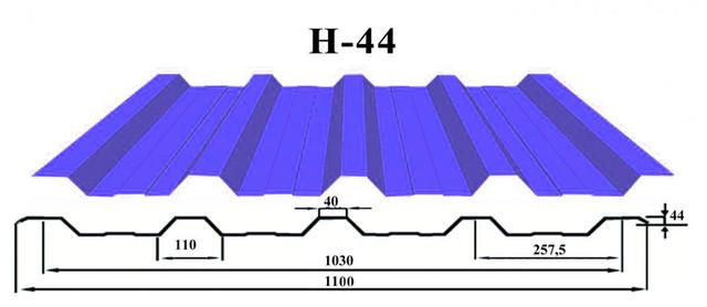 Кровельный профнастил Н-44