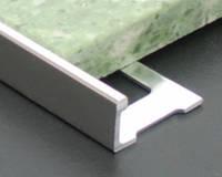 Г-образный алюминиевый угол для плитки 10 мм АП10 2.7 м