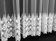 "Тюль вышивка ""Купидон"" Белый, 3 метра, фото 2"