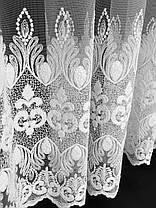 "Тюль вышивка ""Купидон"" Белый, 3 метра, фото 3"