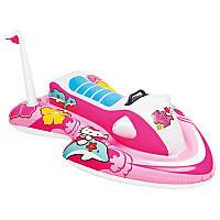 Плотик 57522 водн мотоцикл,Hello Kitty,с ручкой,117-77см,от3-х лет,рем комп