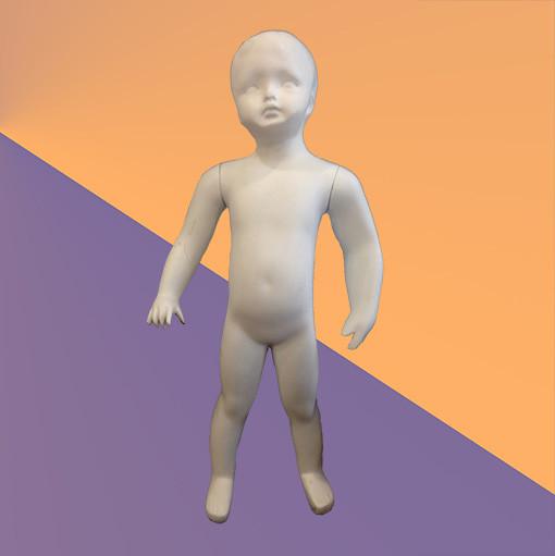 Манекен детский белый матовый - малыш (стекловолокно, 78 см)