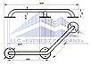Поручень для инвалидов усиленный пристенный угловой, Ø 20мм - 350х350мм, фото 2