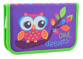 531658 Пенал твердый одинарный Owl, 20.5*13*3.2